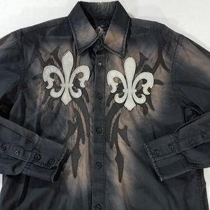 Roar Baron Button Down Embellished Shirt
